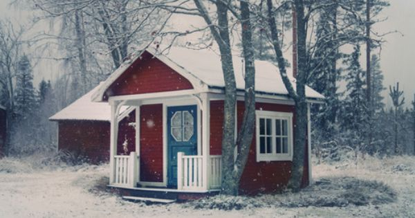 What A Picture Postcard Perfect Winter Scene Sweden House