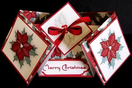 Pin By Lynda Anderson Cardmaking Addi On Double Diamond Fold Cards Paper Crafts Cards Shaped Cards Gatefold Cards