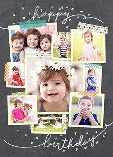 Photo Collage Birthday Card Birthday Collage Photo Collage Birthday Cards