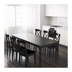 Ingatorp Extendable Table Black 61 84 5 8x34 1 4 Extendable