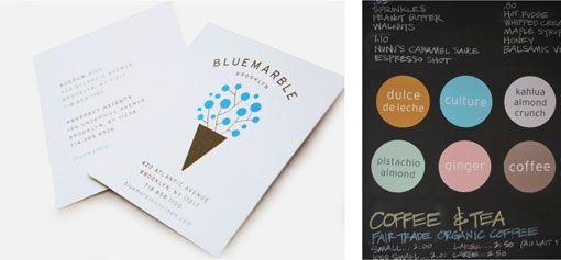 Gabriele Wilson Design Blue Marble Ice Cream Identity Ice Cream Design Ice Cream Brands Branding Design