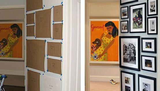 fotowand planen und gestalten tipp deco pinterest fotow nde bildw nde und aufgeh ngte bilder. Black Bedroom Furniture Sets. Home Design Ideas
