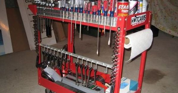 Diy Tool Cart Google Search Tool Cart Tool Box Organization Garage Tools