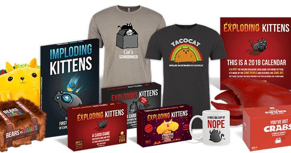 Lots Of Exploding Kittens Stuff Can T Get Enough Exploding Kittens Card Games Kittens