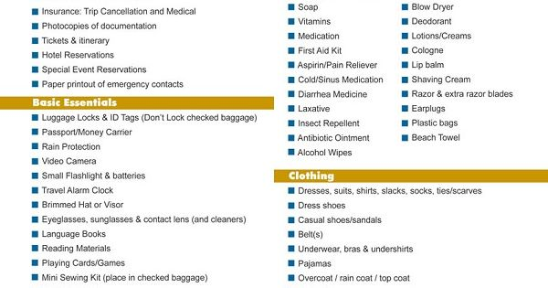 Diy Cruise Itinerary Free Warm Weather Packing List Printable Printables Pinterest Warm