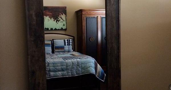Dressing mirror and door all in one! In suite bathroom door.