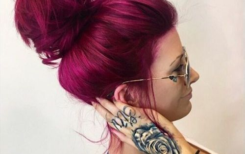 20 Unboring Styles with Magenta Hair Color | Burgundy hair ...