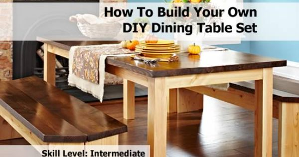 Diy Dining Table Build Your Own And How To Build On Pinterest