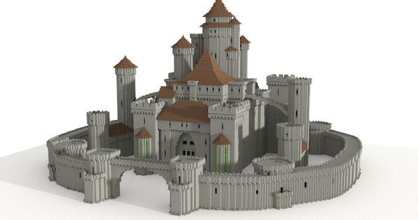 Castle (unfurnished), creation #5599 | Medieval Minecraft ...