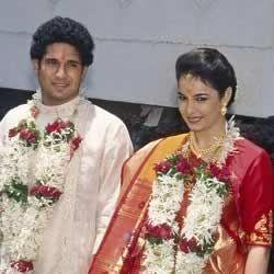 Marriage Picture of Anjali Tendulkar and Sachin Tendulkar. | Sachin  tendulkar, Marriage pictures, Celebrity weddings