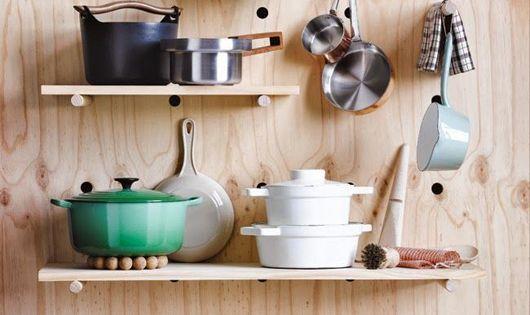 I ve got you pegged diy pinterest shelf ideas for Kitchen pegboard ideas