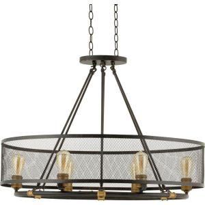 Globe Electric Sansa 6 Light Bronze, Dark Vintage Chandelier