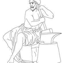 Hephaestus The Greek God Of Fire Coloring Page Coloring Page