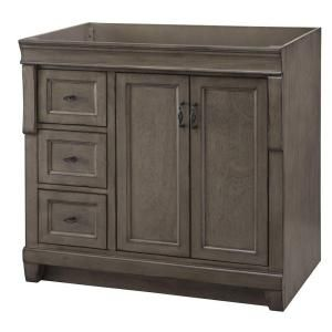 Home Decorators Collection Naples 36 In W Bath Vanity Cabinet Only In Distressed Grey With Left Hand Drawers Nadga3621dl Vanity Cabinet Home Decorators Collection Elegant Bathroom