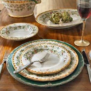Italian Dishware Setting A Rustic Country Table With Italian