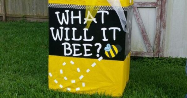 Gender Reveal Bumble Bee Box