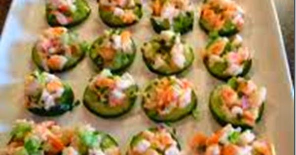 Shrimp Salad on Cucumber Slices Recipe - Healthy Recipes | Easy Aps ...