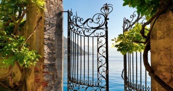 Gate Entry, Lake Como, Italy. Portals of a dream