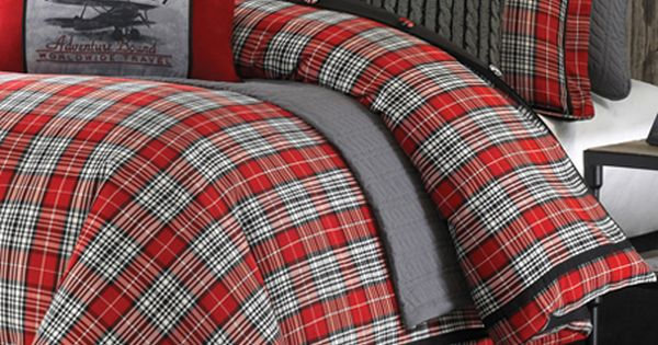 Williamsport Plaid Log Cabin Bedding