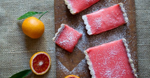 Luscious Blood Orange Bars with a Brown Butter Crust by @Diane Haan