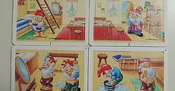 Gut Erhalten Ü Ei Puzzle Ferrero D 91 Super Selten!!!!! Badezimmer Zwerge! Ü  Ei Puzzle Badezimmer Zwerge Ohne BPZ Noch Nicht Aus Dem Rahmen Gebrochu2026