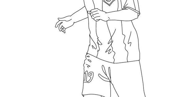 Coloriage du joueur de foot lionel messi imprimer - Coloriage lionel messi ...