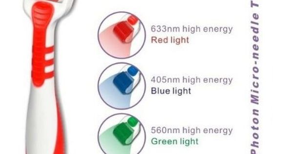 Led Derma Roller Micro Needle Red Light Size 25 Mm Led