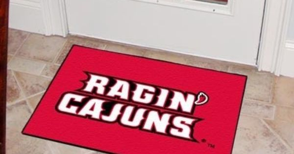 Louisiana Lafayette Ull Ragin Cajuns Starter Rug Carpet Welcome Door Mat Rugs On Carpet Louisiana Entry Mats