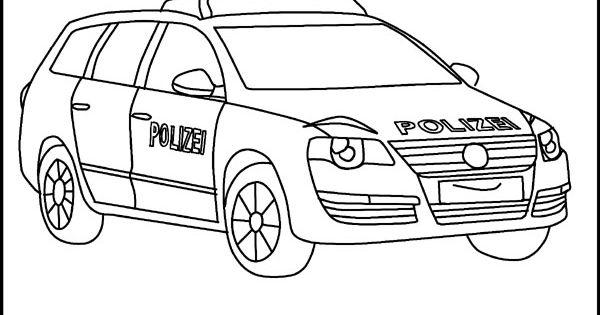 ausmalbilder polizei jeep 01  polizei  pinterest