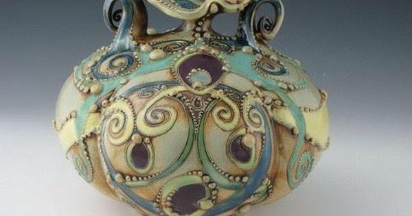 زخارف نباتية خزفيات رائعة للفنانة Carol Long الصفحة 3 Pottery Art Pottery Art
