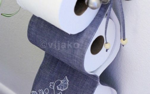 2-roll toilet paper holder cute idea