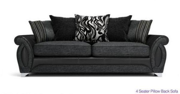 Helix 4 Seater Pillow Back Sofa Helix Dfs Sofa Pillows Sofa Bed