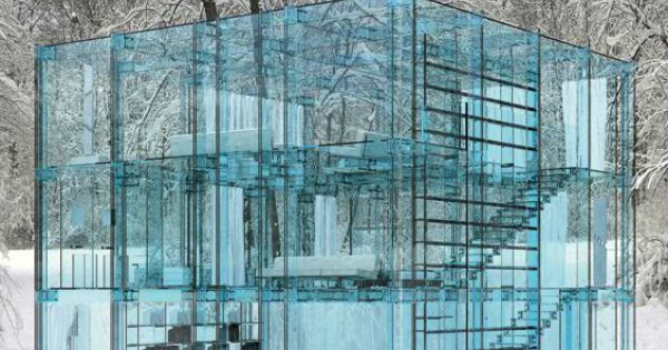 How incredible is this all glass house! glasshouse architecture seethrough glass highfashionhomeblog