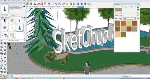 Sketchup Pro Design Landscape Part 1 With Images Landscape