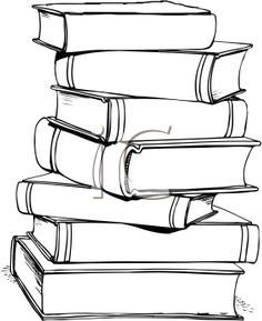 14++ Large stack of books clipart information