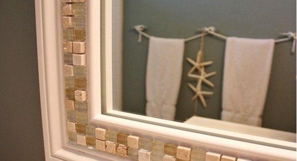 Ideas para decorar el marco de un espejo hacienda style for Decorar marco espejo
