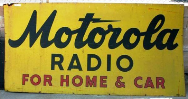 "TIN SIGN /""Motorola Car Radio/"" Auto Garage Wall Decor"
