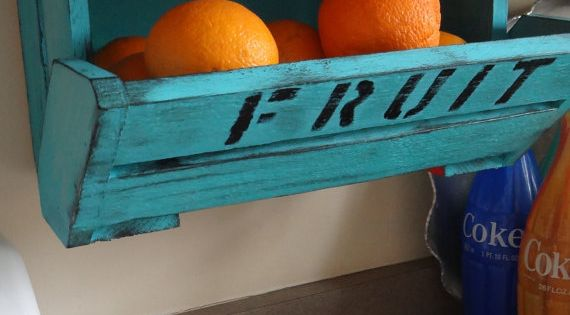 Love this idea for under the cabinet fruit containers. fruit storage kitchen