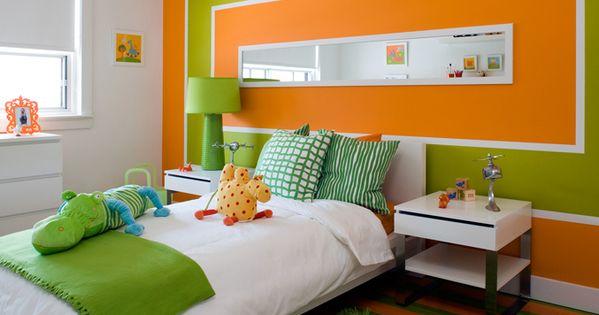 Combinaciones de colores para el dormitorio dormitorio for Dormitorio naranja