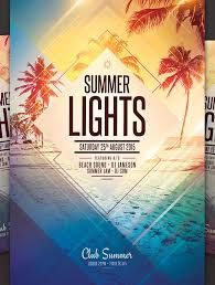 Beach And Lights Party Google Search Event Flyer Templates