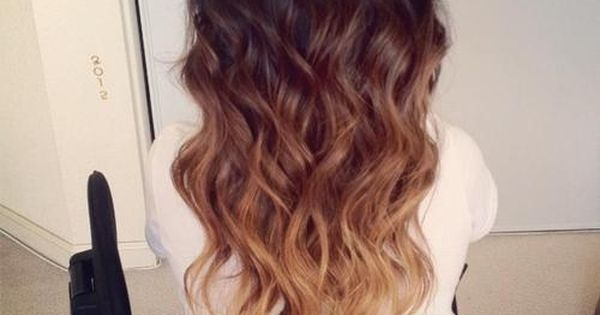 Brown Ombre Hair 2014: Brown to Blonde Wavy Dip-Dye Cascade...beautiful colors! skinperfectmedical