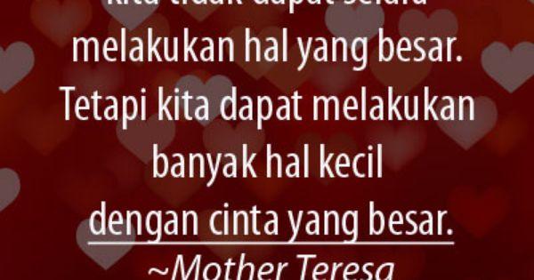 Cinta Yang Besar Mother Teresa Bijak Kutipan Inspiratif Kutipan