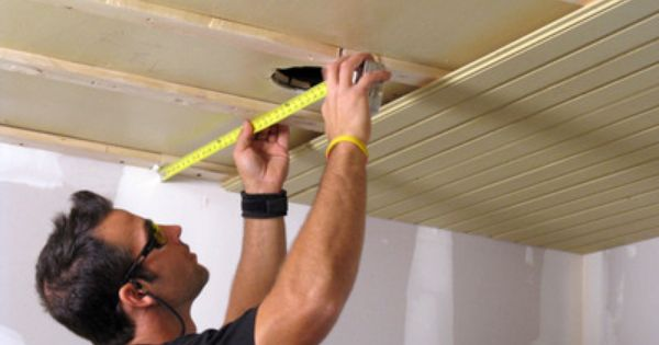 How To Install A Tongue And Groove Plank Ceiling Plank Ceiling Remodel Bedroom Tongue And Groove Ceiling