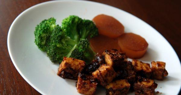 Tofu, Recipe and Sweet on Pinterest
