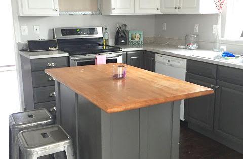 Updating builder grade end cabinets builder grade - Builder grade oak kitchen cabinets ...