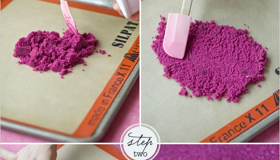DIY Ombre Sugar Hearts How-To ~ could easily be used for a