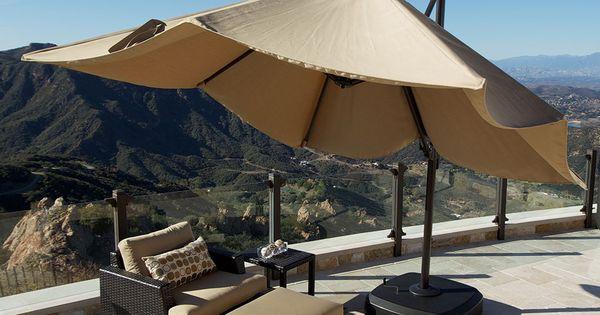 Portofino 10 foot Resort Umbrella in Heather Beige | Our Outdoor ...