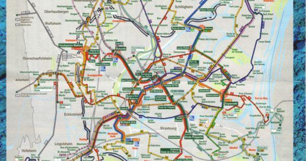 strasbourg bus and tram map metro mapas pinterest buses maps and strasbourg. Black Bedroom Furniture Sets. Home Design Ideas