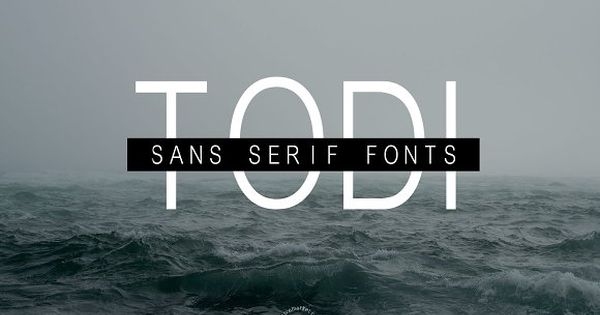 Todi Fonts – well suited for various design projects, such as logos, advertising, quotes, packaging design