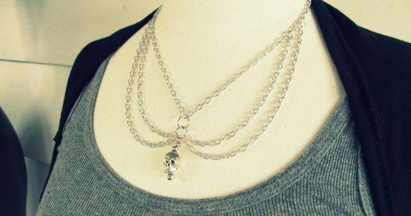 skull necklace diy